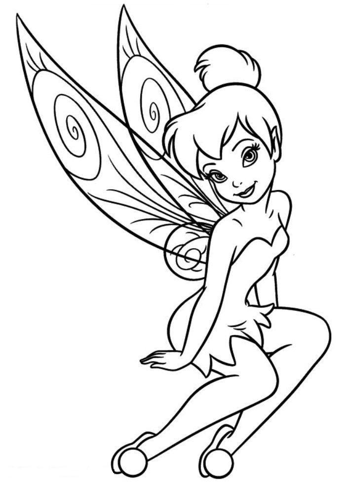 Tinkerbell Periwinkle Ausmalbilder 09 Tt Desenhos Infantis Para