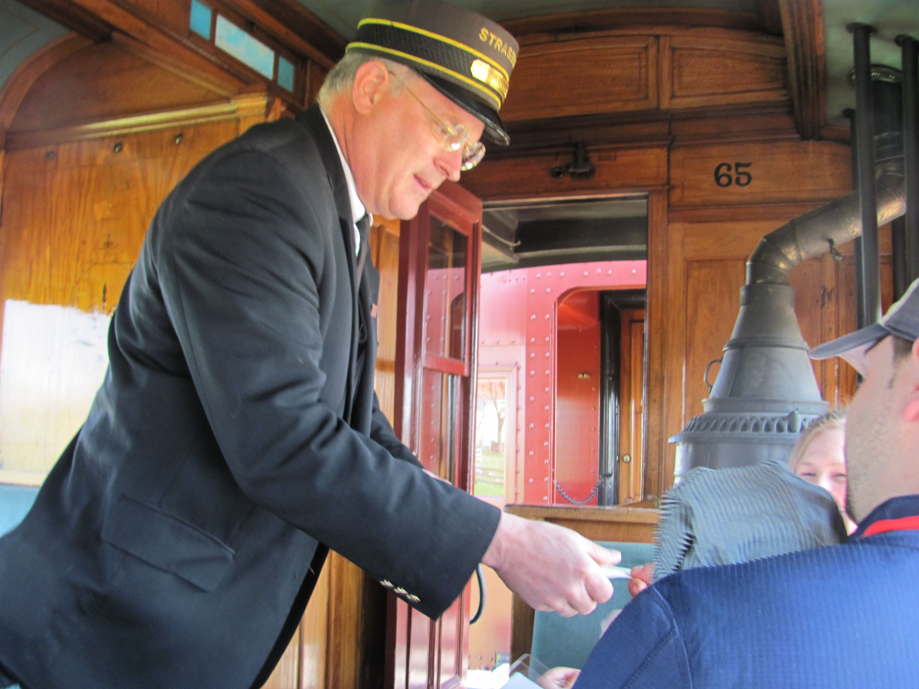 Train to colorado from pa - Conductor Taking Tickets On Board The Turn Of The Century Steam Train At