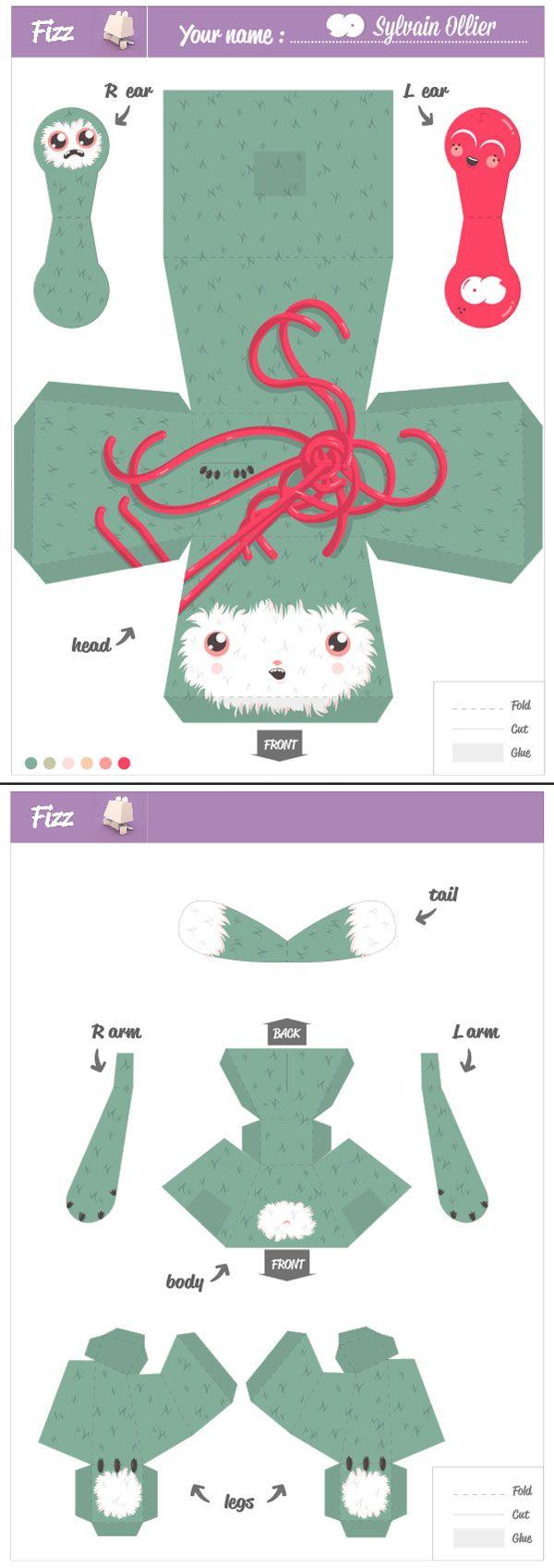 oshinaki pepetz paper toy | Free printable patterns | Paper
