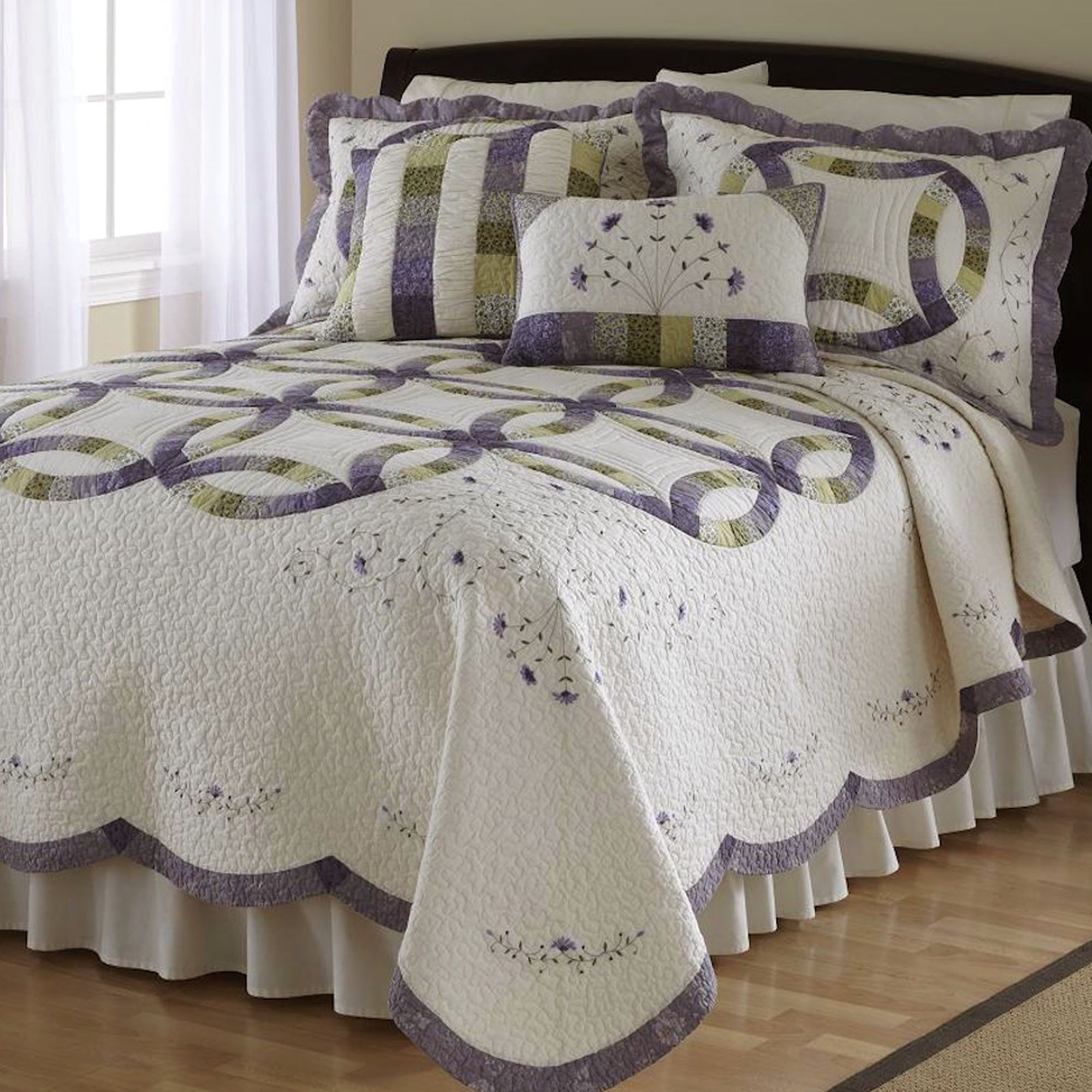 Catherine double wedding ring quilt bedding home guest