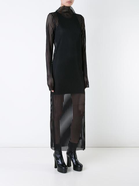 Robert Wun robe longue en maille