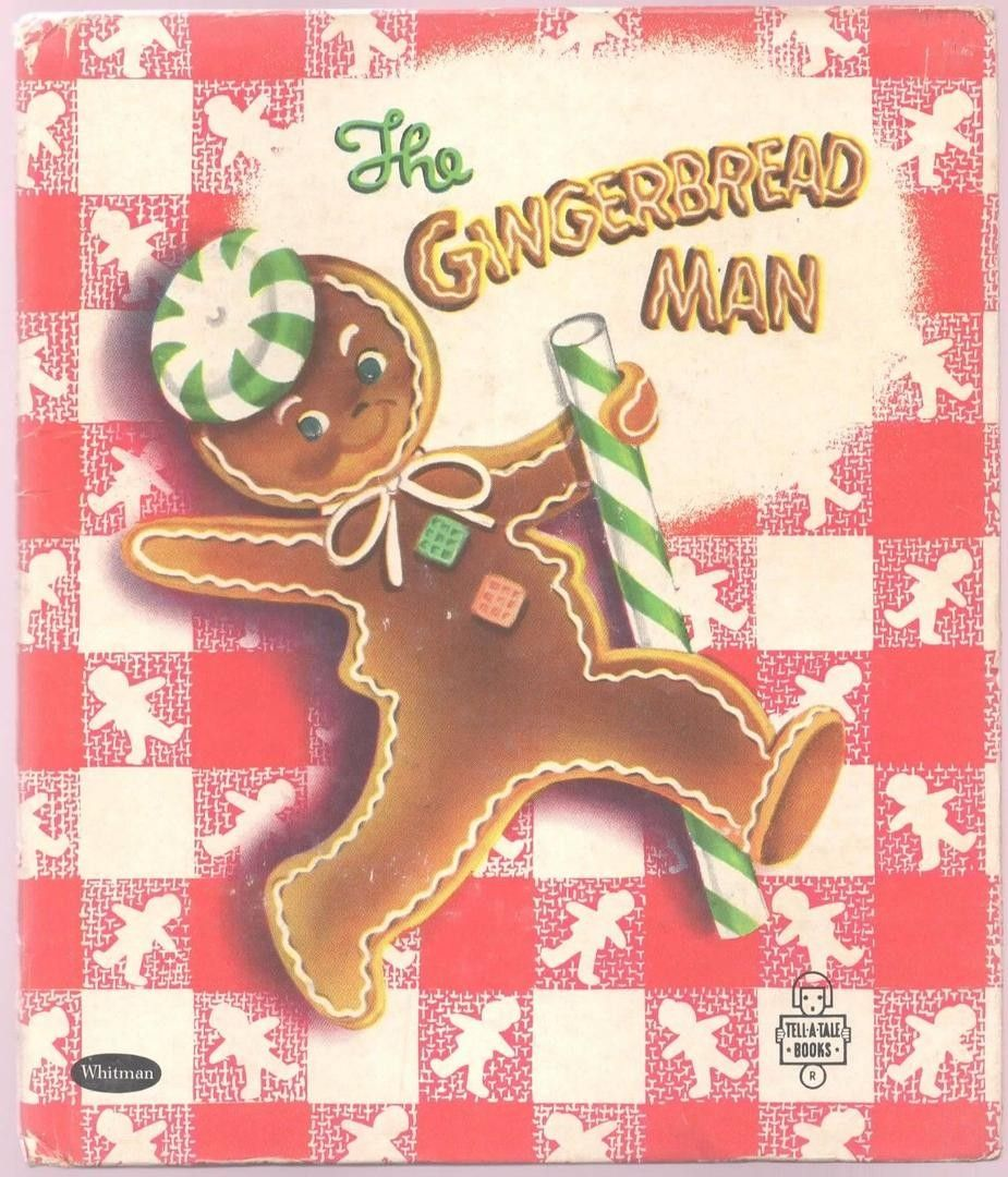 1953 The Gingerbread Man Tell A Tale Book Gingerbread Man