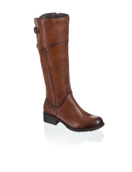 huge discount 6ad37 31992 Fraiche Glattleder-Stiefel - braun - Gratis Versand | Schuhe ...