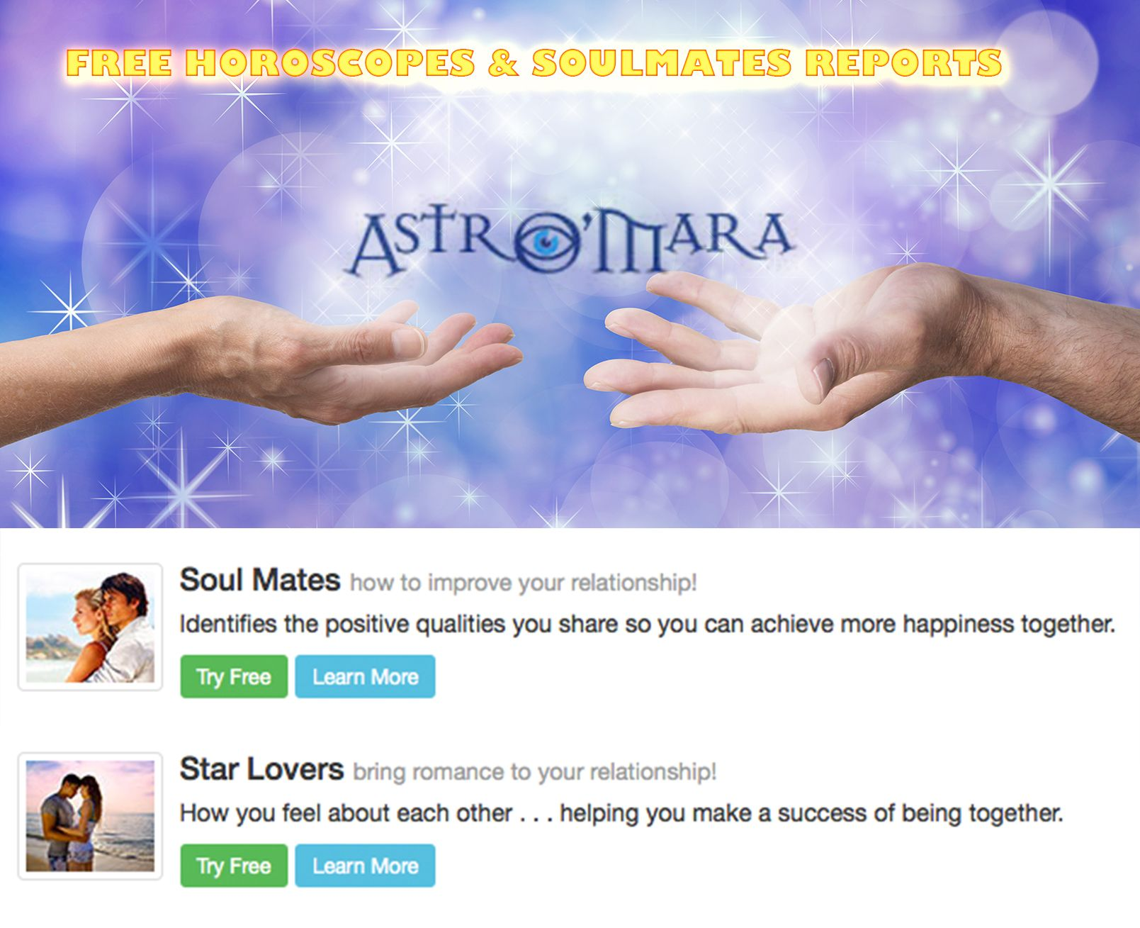 Daily Horoscopes & New Soulmates and Starlovers Astrology reports http://www.astromara.com/horoscopes