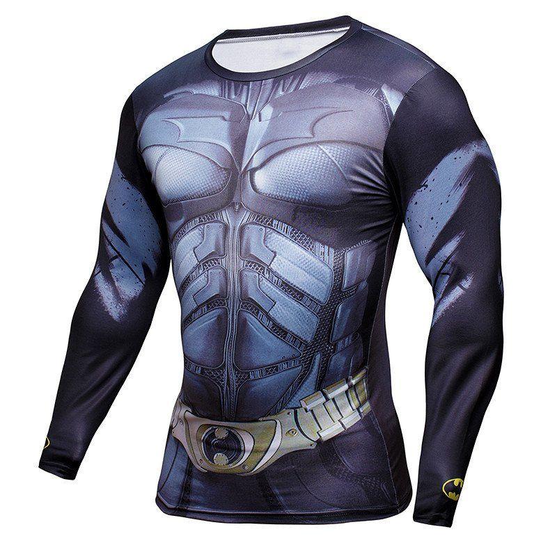 Batman Long Sleeve Compression Shirt
