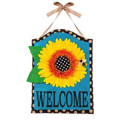 Evergreen Enterprises, Inc Palmer Sunflower Welcome Door Hanger