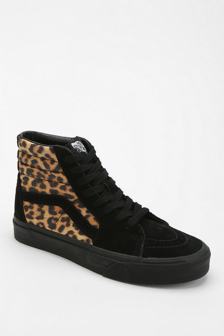 vans sk8-hi platform leopard high top trainers