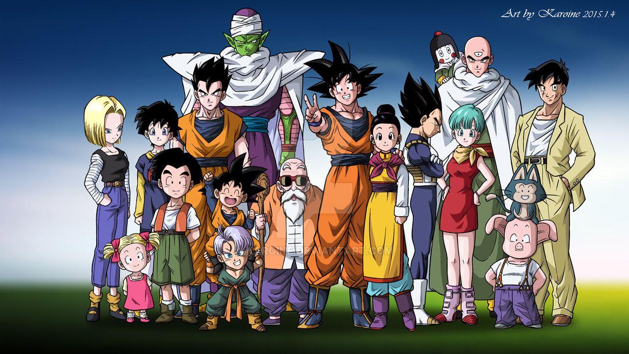 Dragon Ball Z Kai Family Photo By Karoine Deviantart Com On