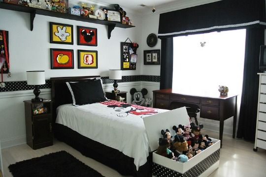 habitacionmickey1 BedRoom Ideas Pinterest Mickey mouse room