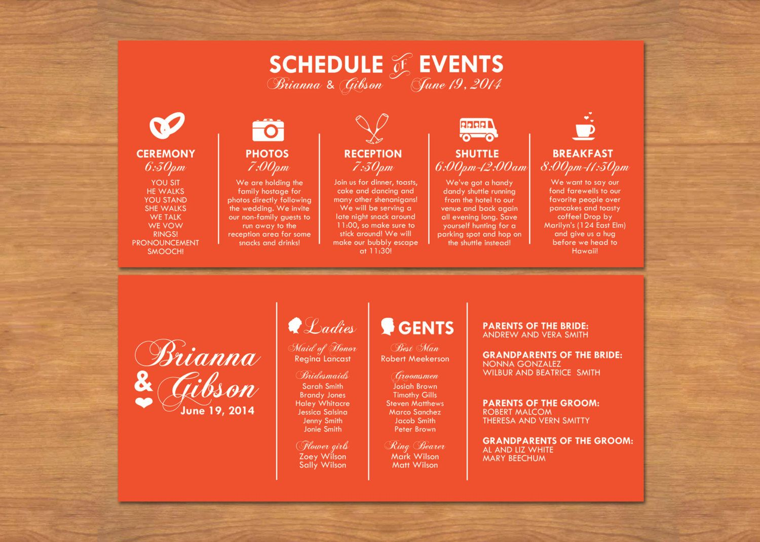 Program 1 | Forever and Always wedding | Pinterest | Wedding, Events ...