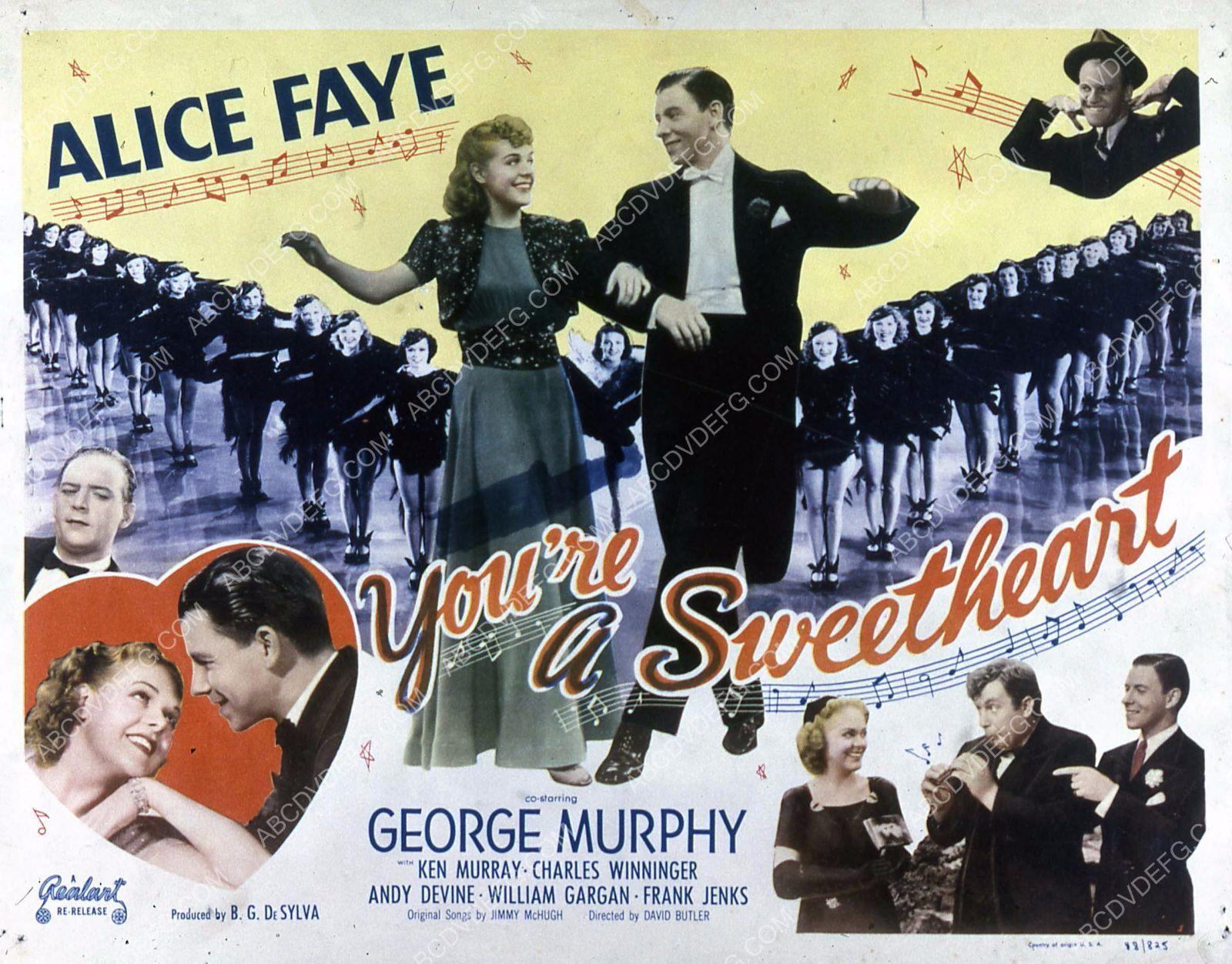 Alice Faye George Murphy film You're a Sweetheart 35m-4087