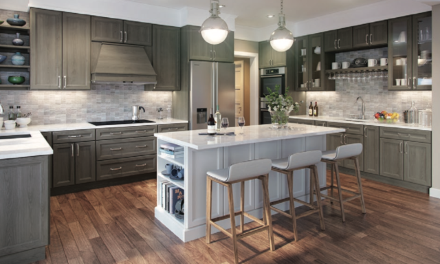 All Wood Rta 10x10 Transitional Maui Pewter Kitchen Cabinets Modern Gray Stain Ebay Solid Wood Kitchen Cabinets Grey Shaker Kitchen Solid Wood Kitchens