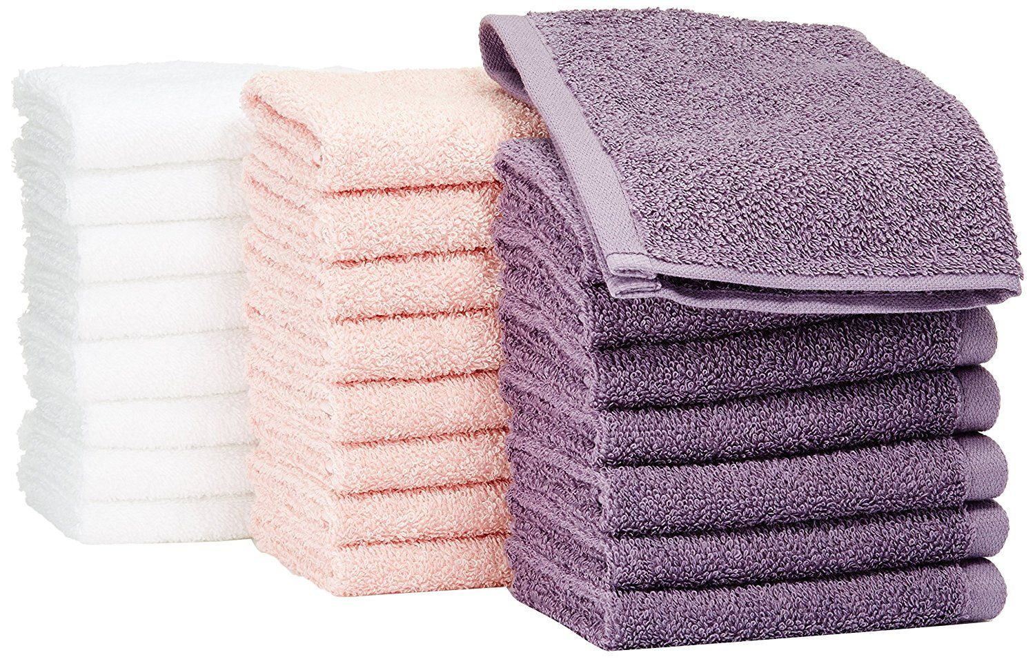 100 Cotton Imported Pack Of 24 Washcloths 8 Per Color For