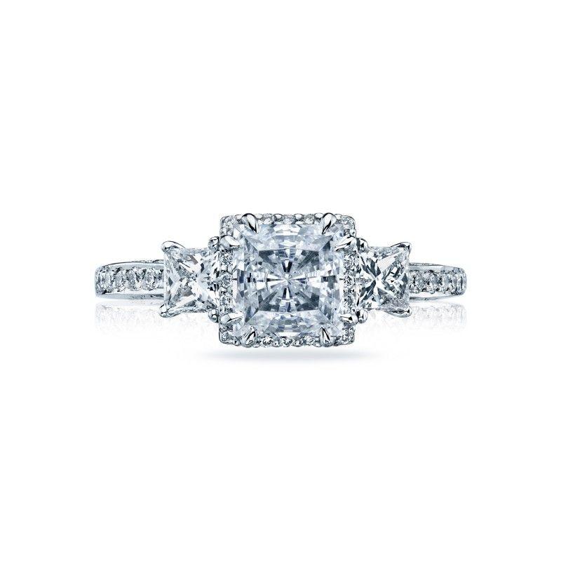 Chicago Bridal Marshall Pierce Company Tacori 3 Stone Princess Cut Enga Tacori Engagement Rings Dantela Engagement Ring Cuts Princess Cut Engagement Rings