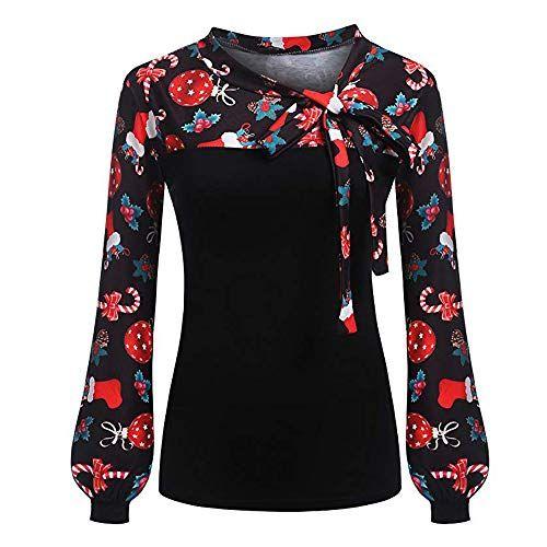 2b95c38c822543 Damen-Pullover -Dasongff-Weihnachtspullover-Spitze-Langarmshirt-Blumenmuster-Sweatershirt-