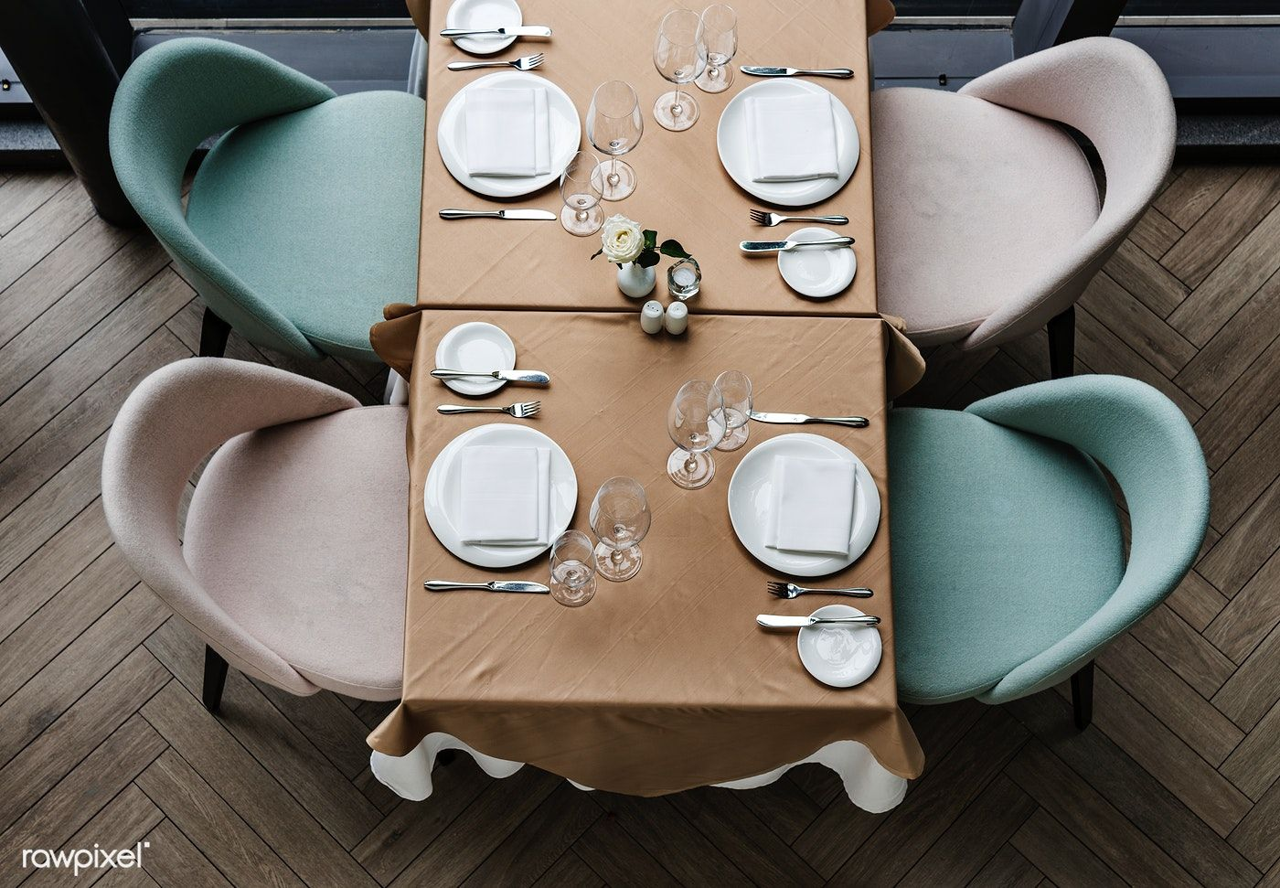 Empty Dining Table In A Restaurant Free Image By Rawpixel Com
