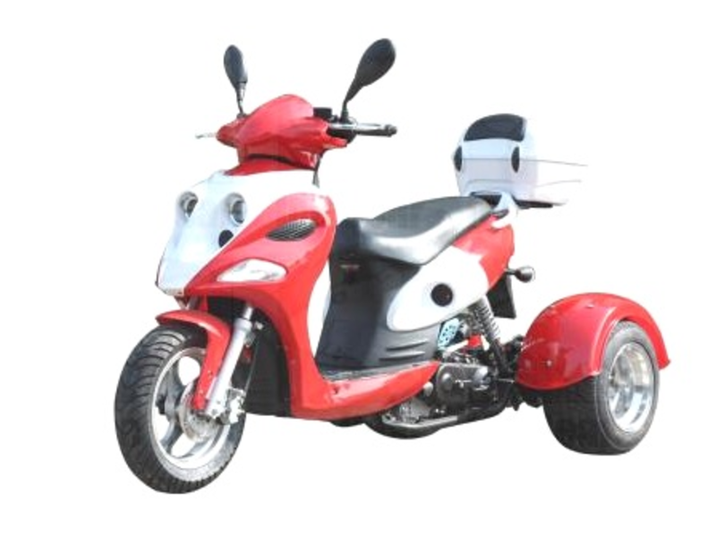 Mini Cruzzer 50cc Gas 3 Wheel Trike Moped Scooter Ice Bear Ace