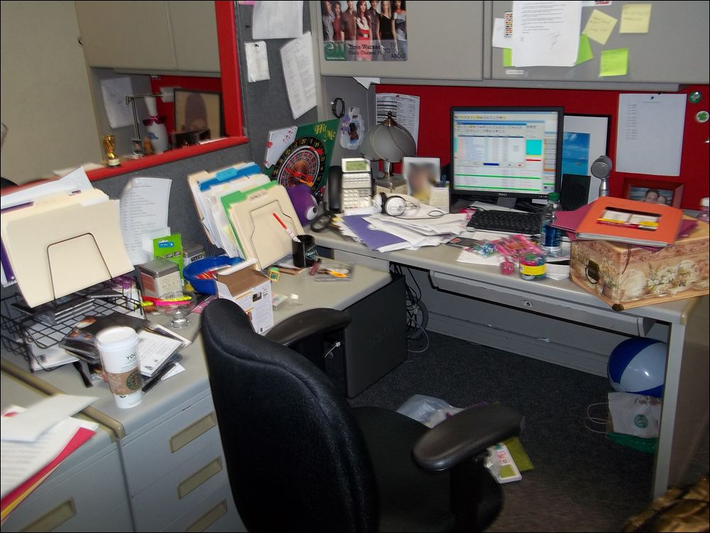 messy desks The other desk is my real desk and it is often a