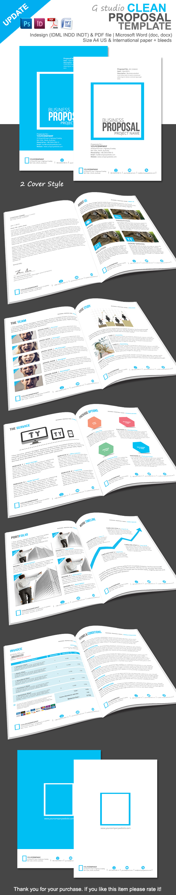 Product Sales Proposal Template Gstudio Clean Proposal Templateterusawa G Studio Via Behance .