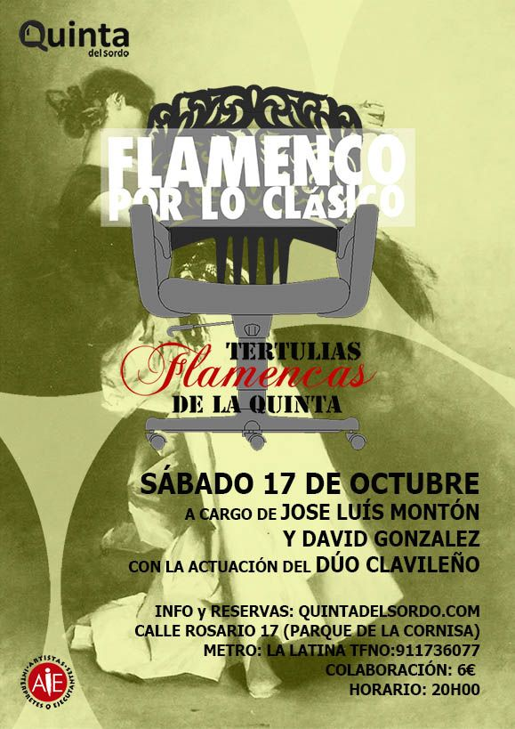 Tertulias flamencas de La Quinta. sábado 17 de octubre 20:00
