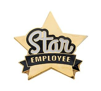 Star Employee Pin Jones School Supply Employee Awards Employee School Supplies
