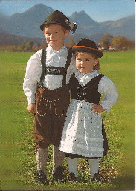 German Children   German Child and Lederhosen