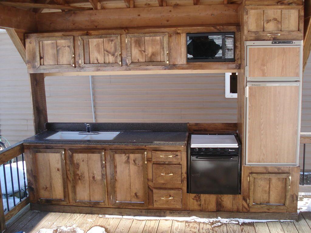 Camper Deck Kitchen Outdoor Kitchen Diy Kitchen Projects Diy Deck
