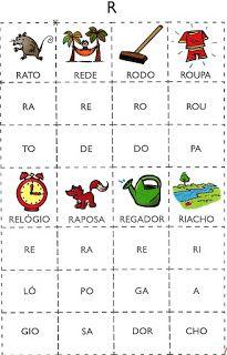 Bingo Silabico Alfabetizacao So Escola Jogo Das Silabas