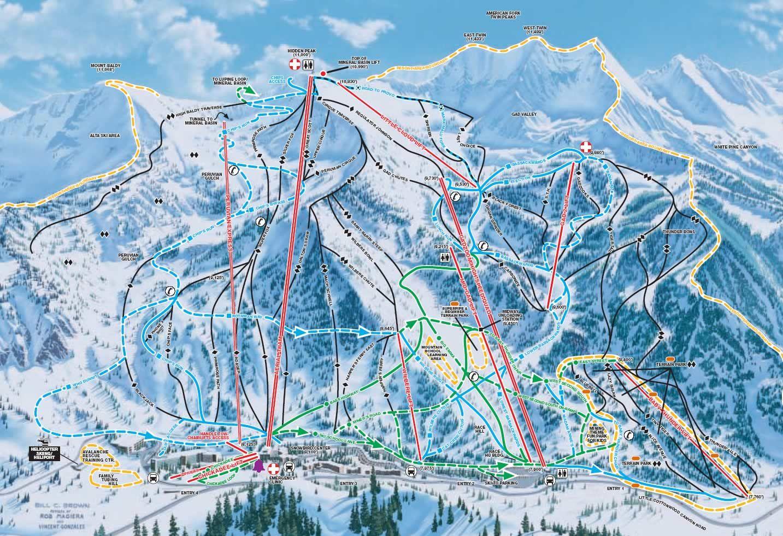 Snowbird Ski Resort Map Ski Maps Snowbird Ski Snowbird Utah Skiing