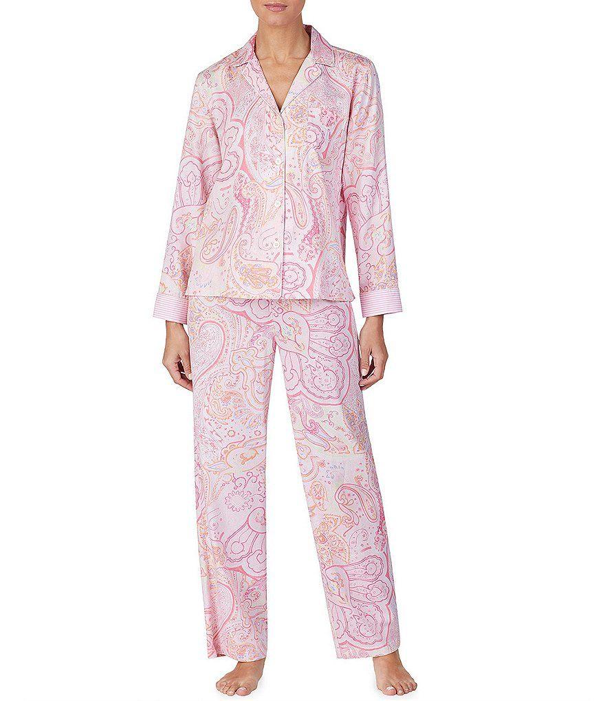 ca2b8c03b3 Lauren Ralph Lauren Petite Paisley-Print Sateen Pajama Set  Petite ...