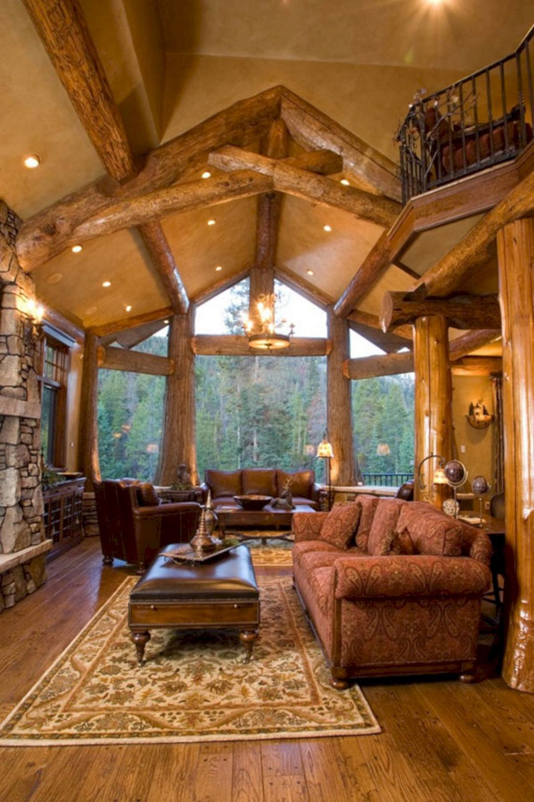 49 Superb Cozy And Rustic Cabin Style Living Rooms Ideas  Https://freshouz.com/49 Superb Cozy Rustic Cabin Style Living Rooms Ideas/