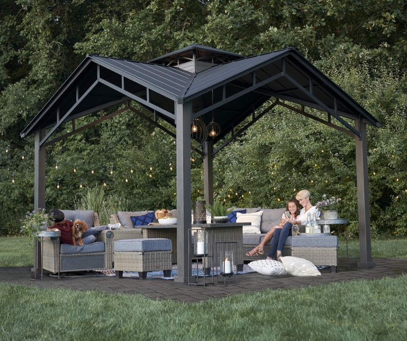 Broyhill Hard Top Pavilion 12 X 12 Outdoor Gazebos Outdoor Pavilion