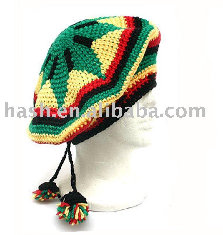 Rasta reggae/marley jamaica beret ( sdc11195 ) | croche | Pinterest ...