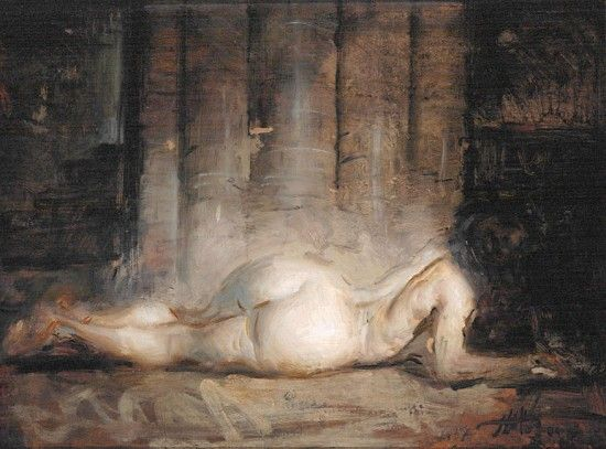 Steve Huston | Artwork : Paintings : Nude with Architecture