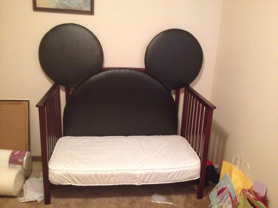 A Diy Project   Mickey Mouse Headboard For My Toddlers Room.