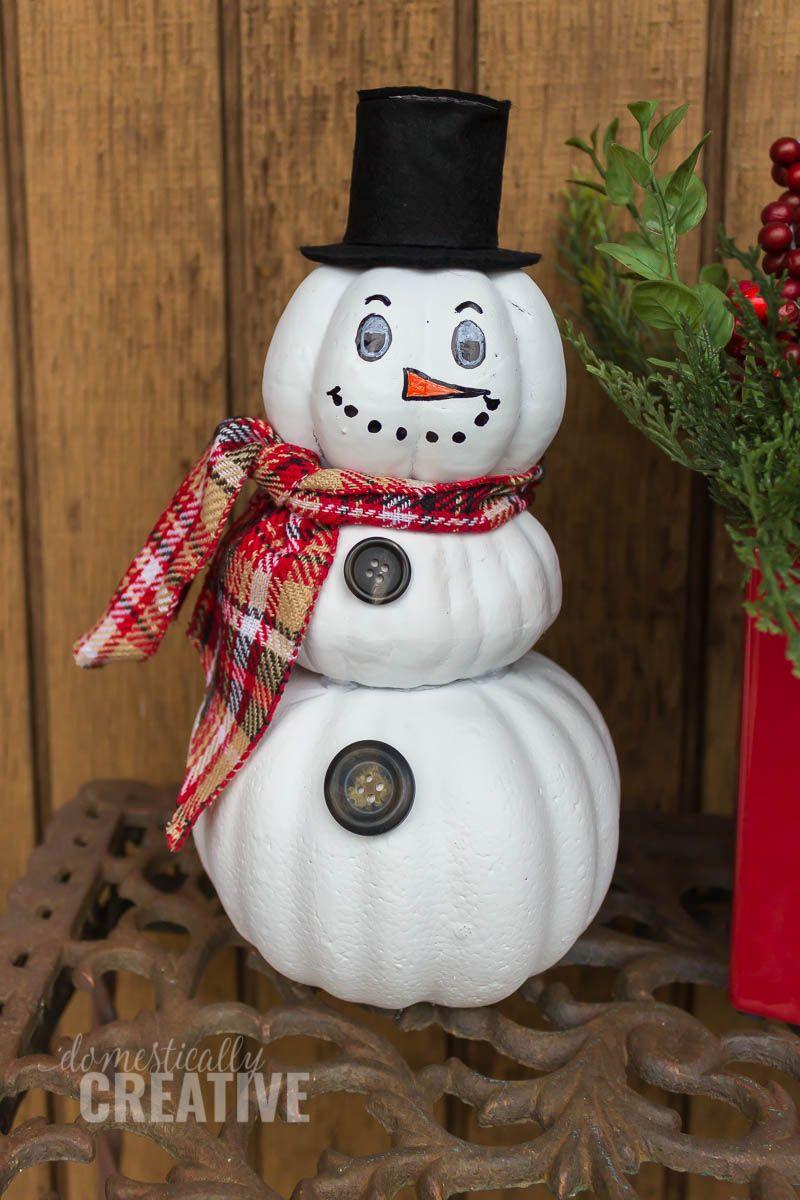 Upcycled Pumpkin Snowman Gingerbread Snowman Crafts Snowman Crafts