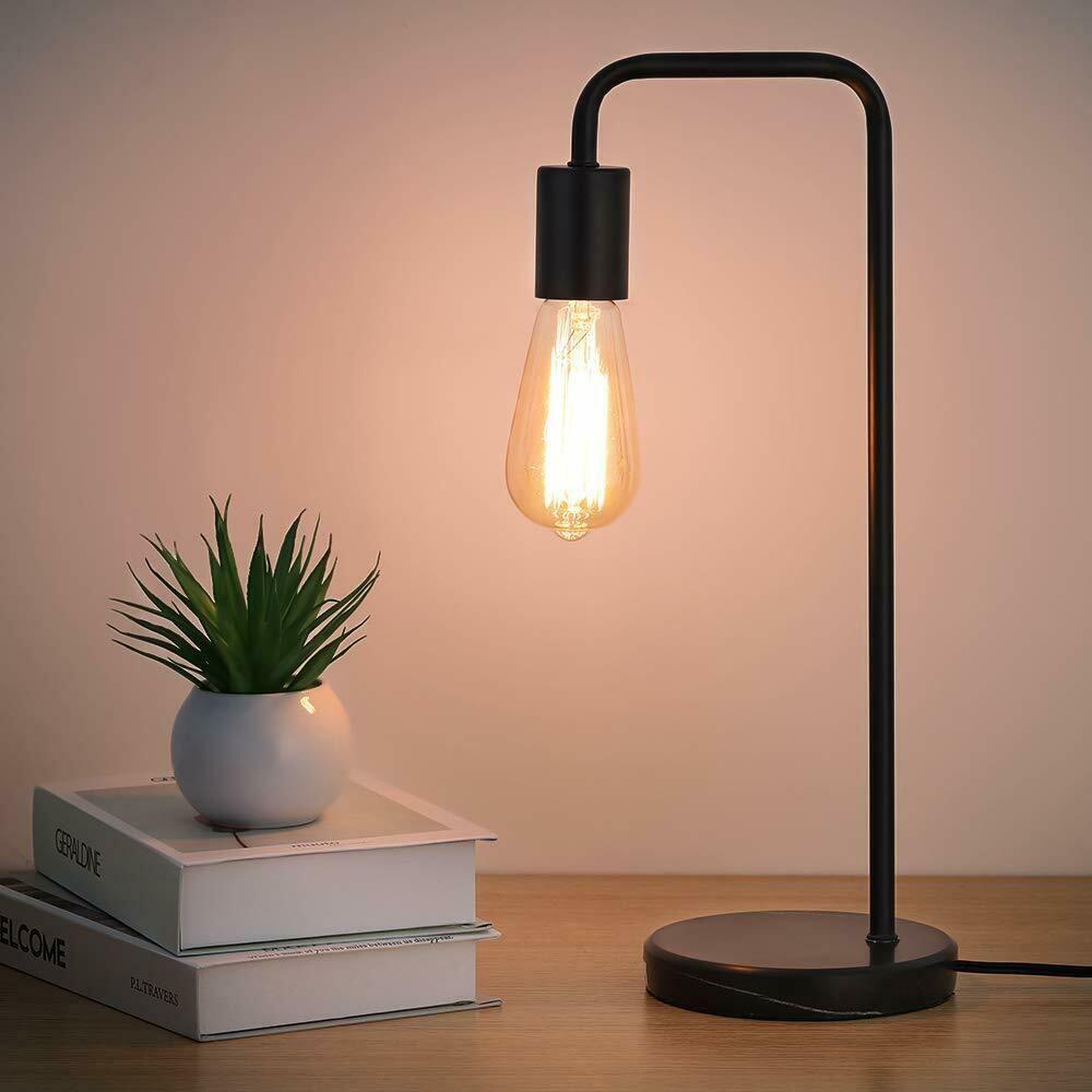 Industrial Desk Lamp Classic Modern Black Bedside Table Lamp Marble Base Frame 19 99 Black Lamp B In 2020 Modern Desk Lamp Industrial Desk Lamp Bedside Table Lamps