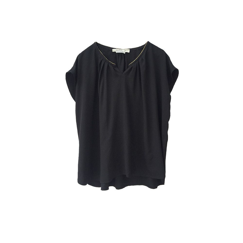 Pleated Neck Top
