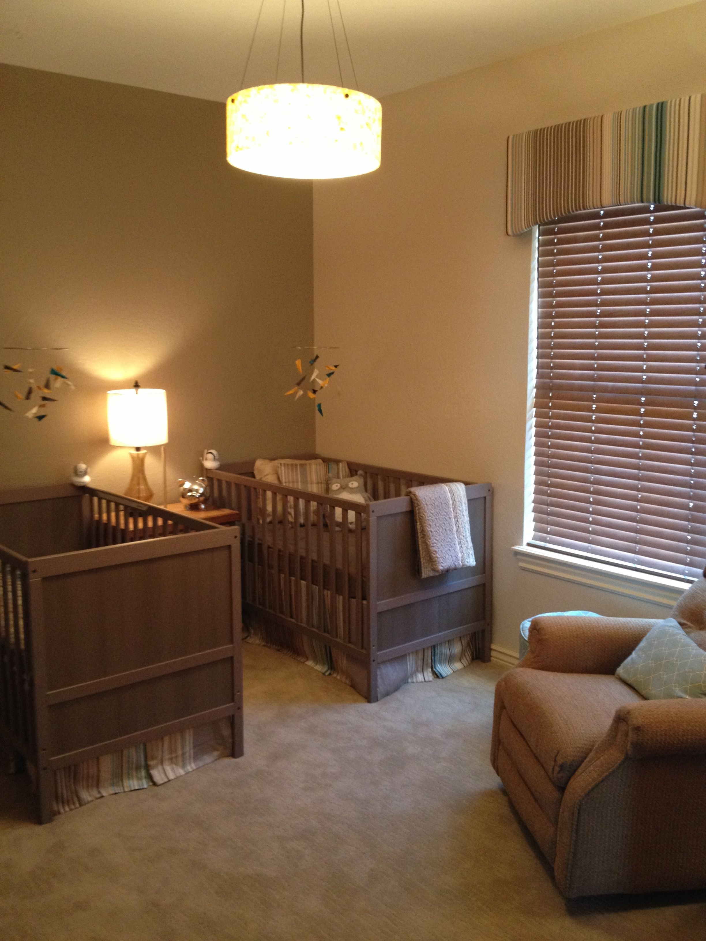 Twin nursery..almost complete