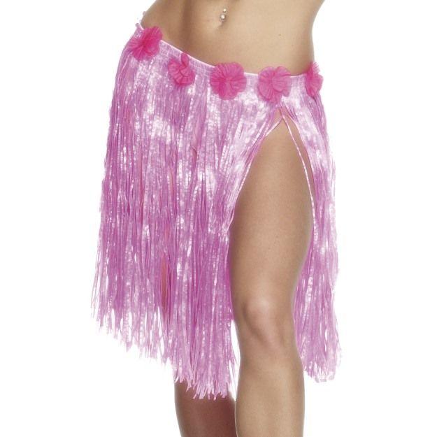 Hawaiian Hula Skirt, Neon Pink | Hawaiian | Pinterest | Hula skirt ...