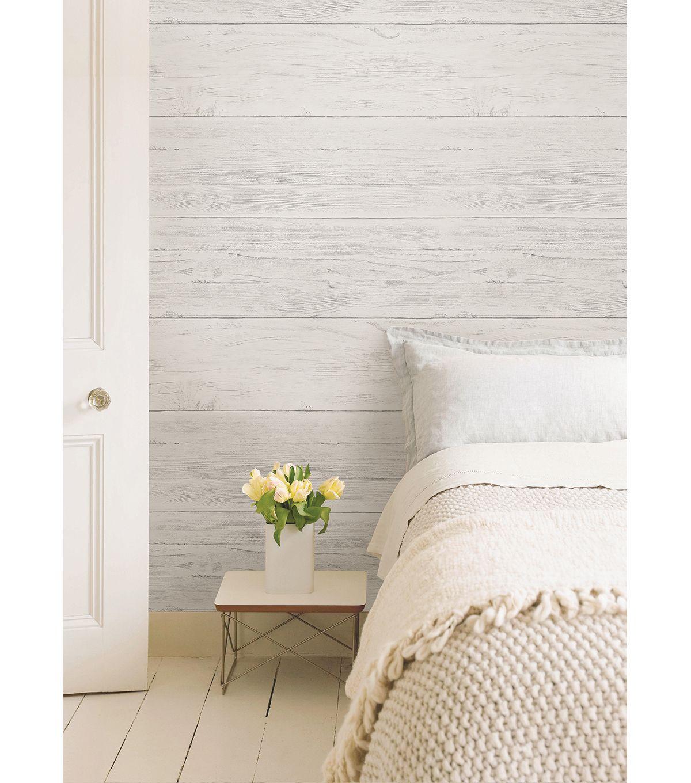 King Bed Bedroom Nice Bedroom Decor Bedroom Chairs Ikea Art Deco Bedroom Wallpaper: WallPops NuWallpaper Shiplap Peel And Stick Wallpaper