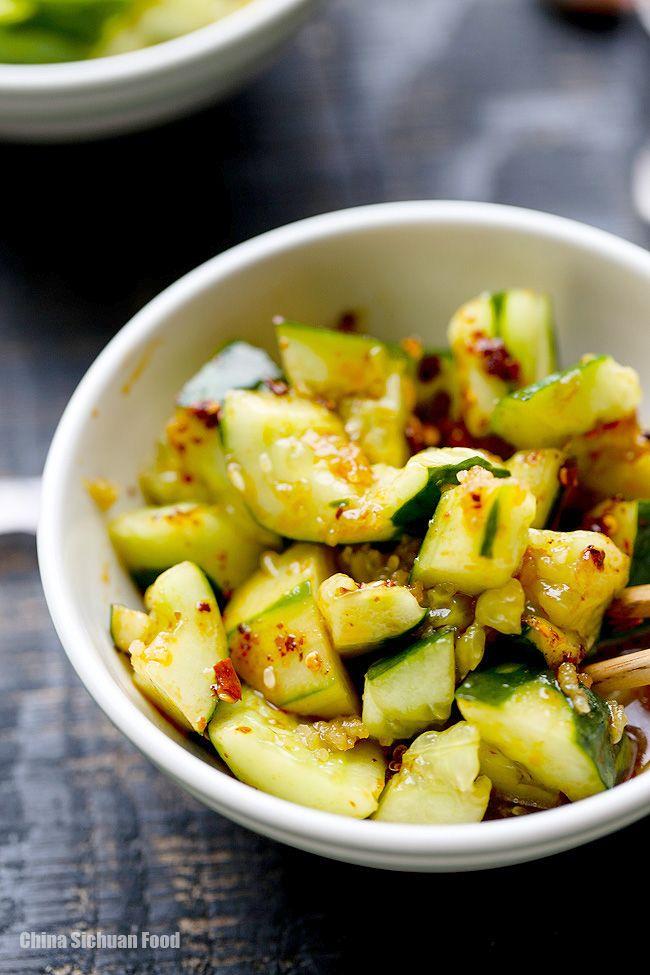 Chinese cucumber salad recipe asian food recipes pinterest chinese smashed cucumber salad elaineseafish forumfinder Images