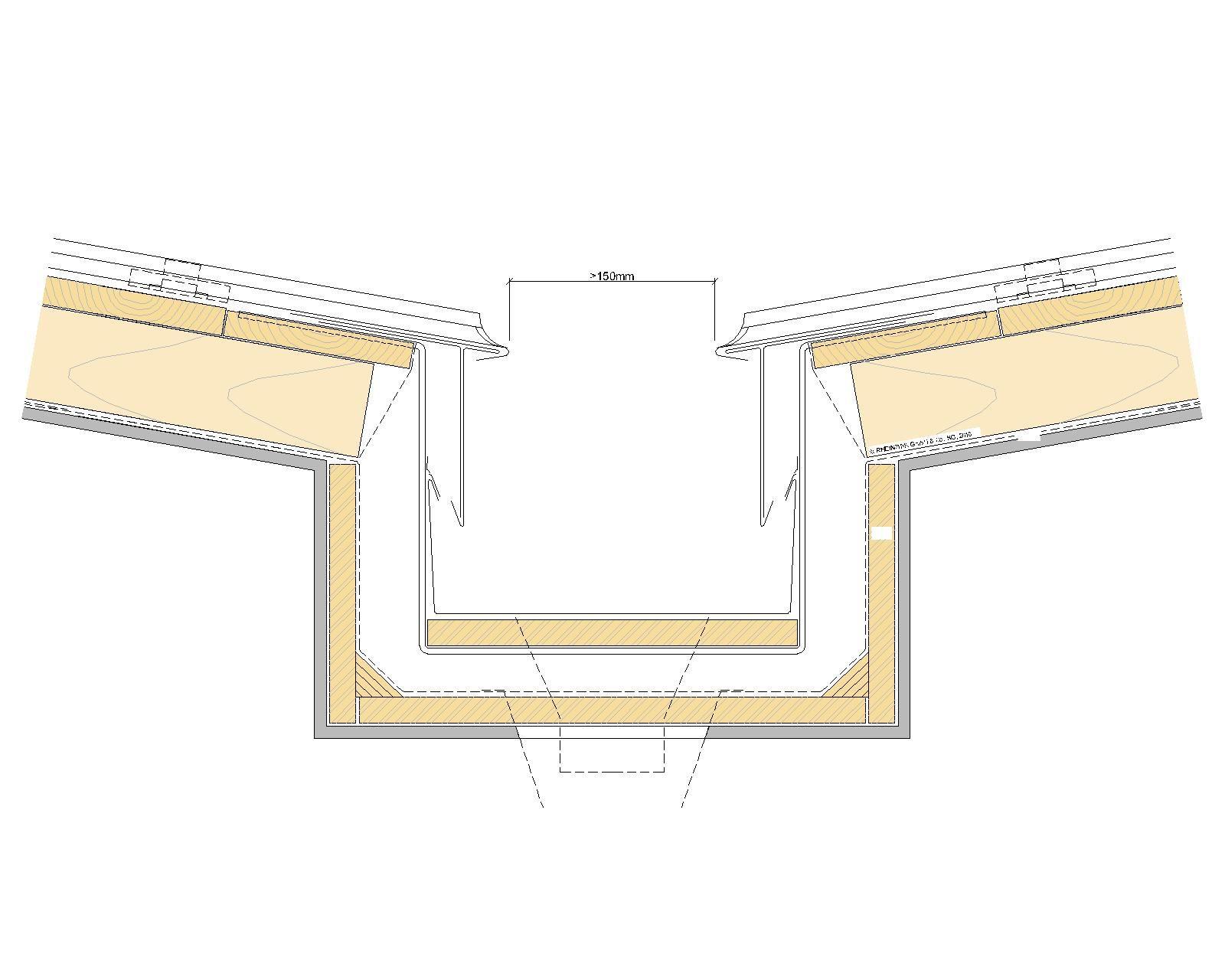 Innenliegende Kastenrinne Detail Innenliegende Dachrinne Fahrradhaus Dachrinne Dachdecker