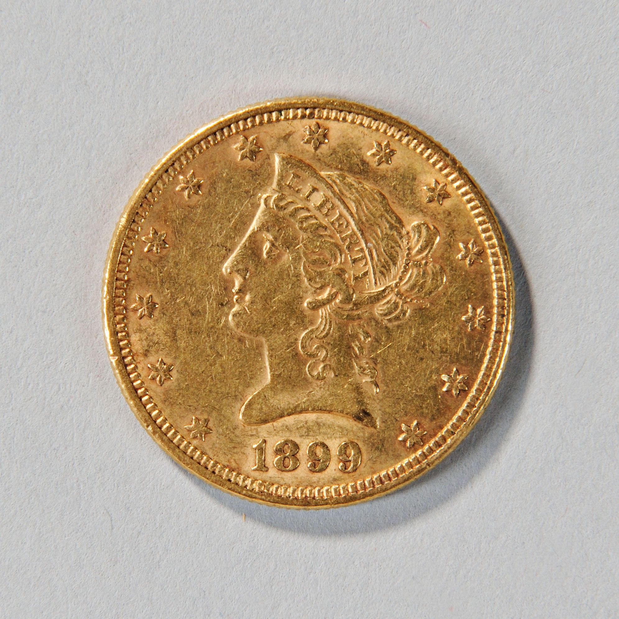 1899 Liberty Head Ten Dollar Gold Coin Auction 2903t Lot 1088 Estimate 400 600 Antique Coins Coins Gold Coins