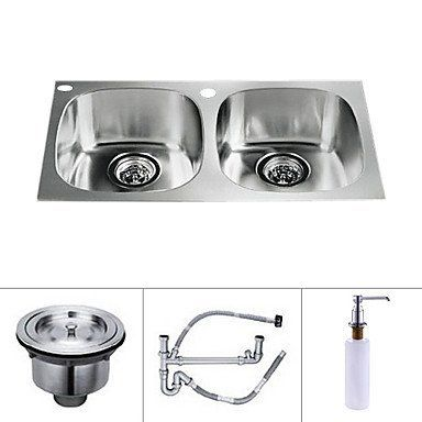 27 Inch Undermount Stainless Steel Kitchen Sink (Double Bowl) By Arctic,  Http: