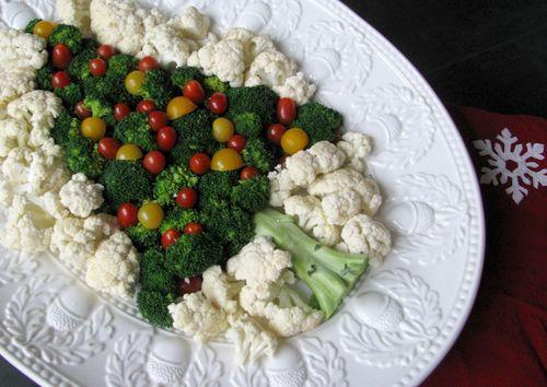 another twist on christmas tree veggie platter