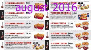 printable coupons kfc coupons free printable coupons august 2016