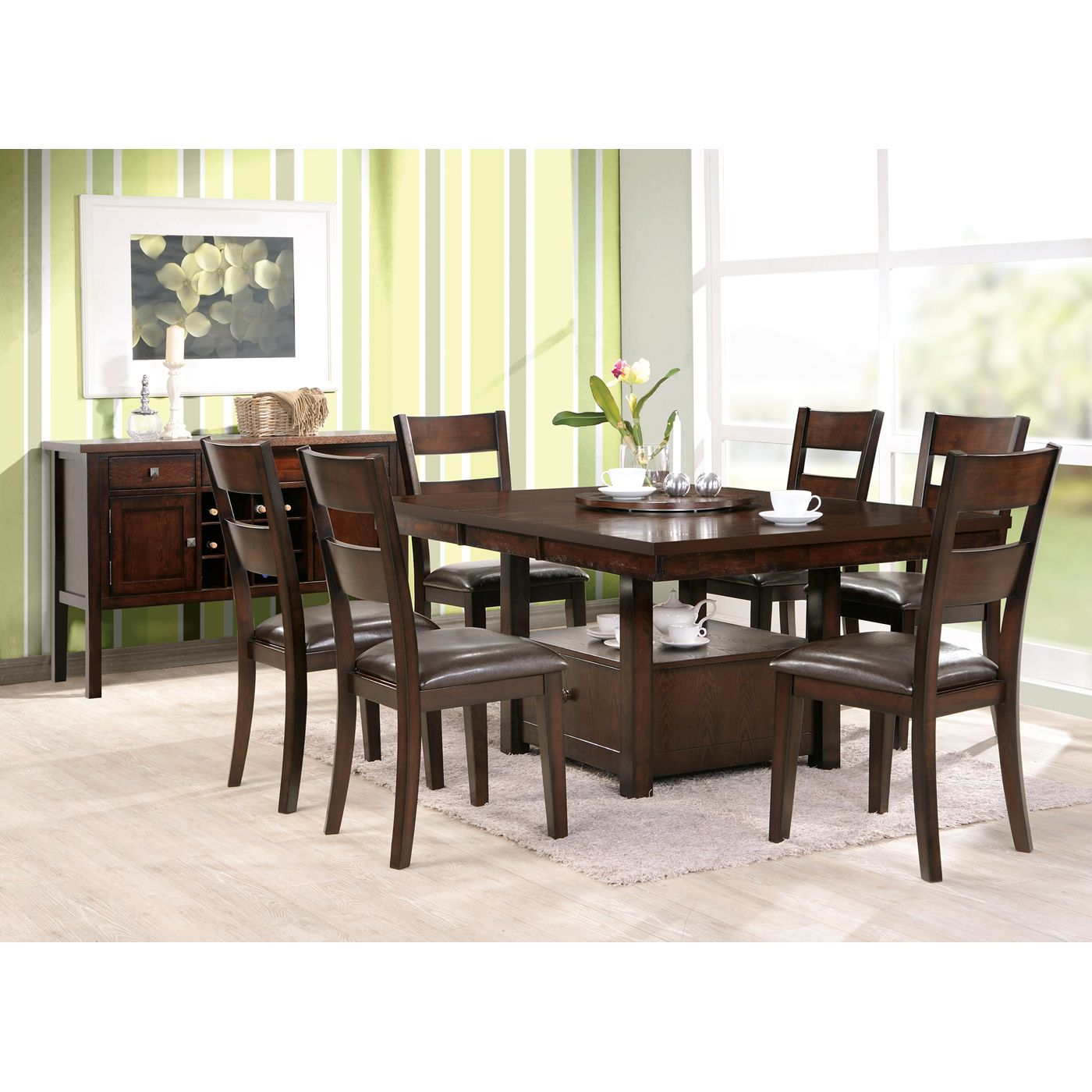 Steve Silver Company Gibson Storage Dining Set