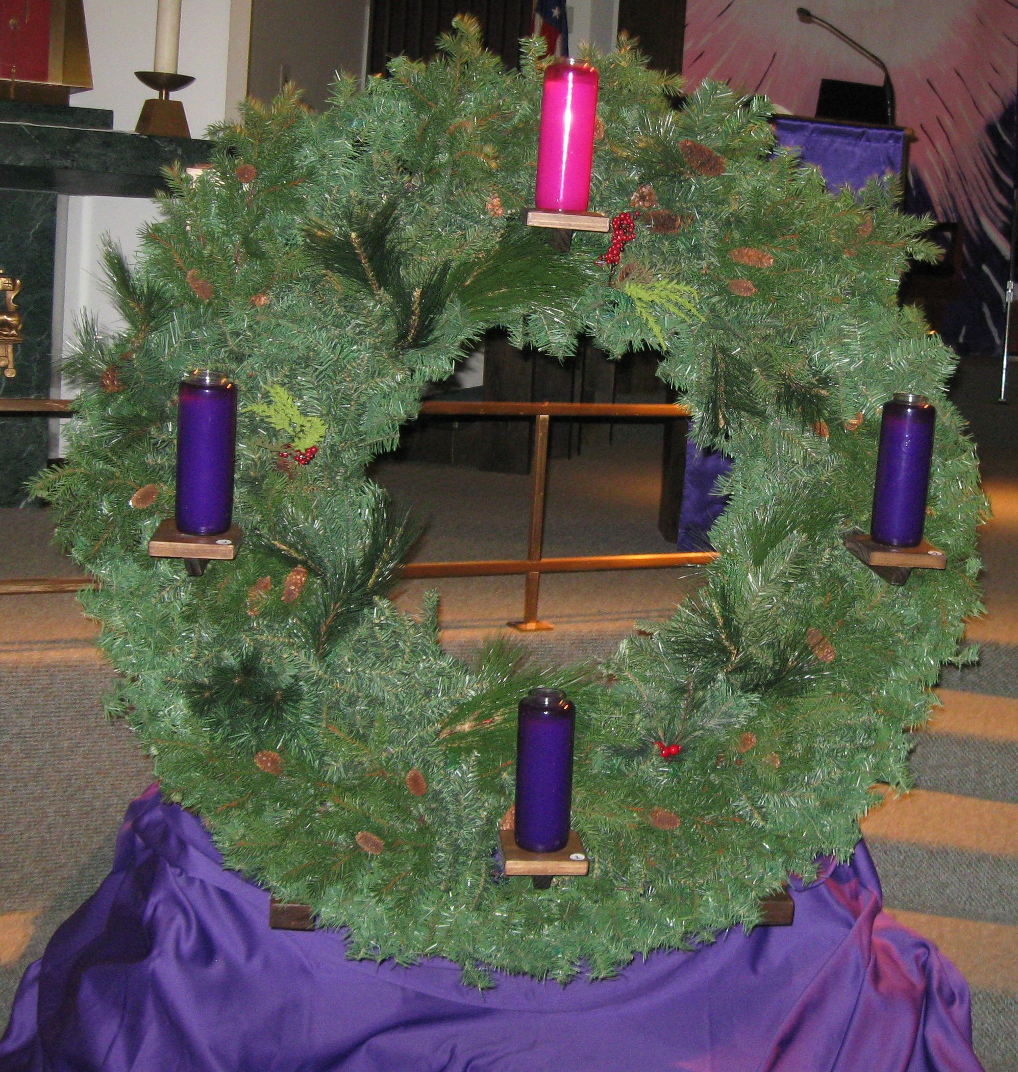 Advent wreath made for st john church it had glass enclosed