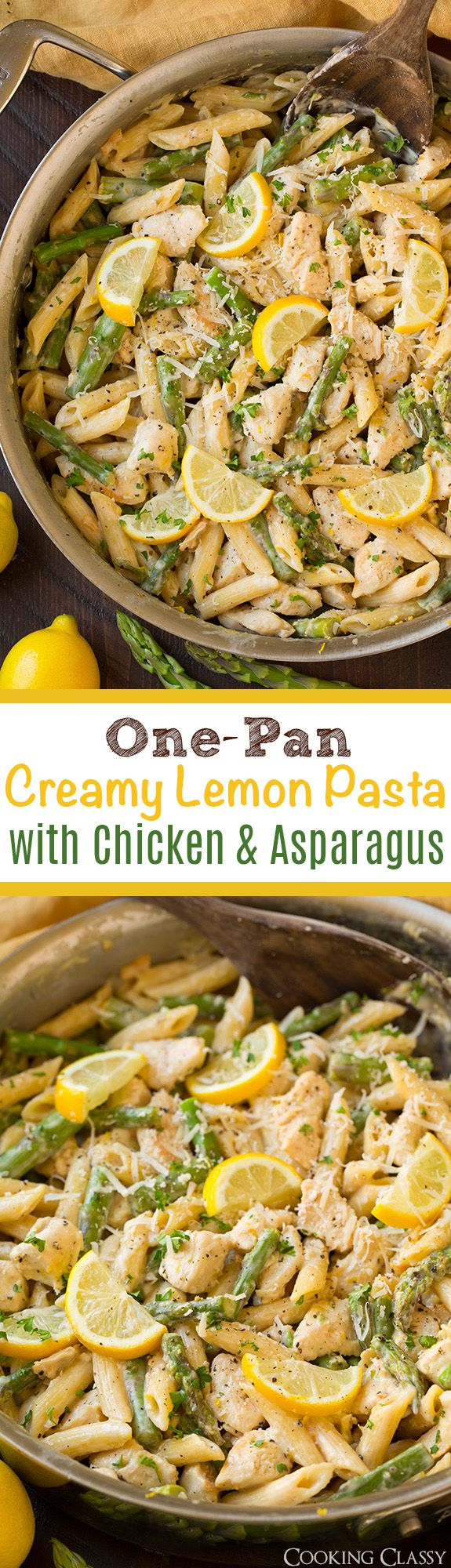 One pan creamy lemon pasta with chicken and asparagus so easy one pan creamy lemon pasta with chicken and asparagus so easy so flavorful ccuart Image collections